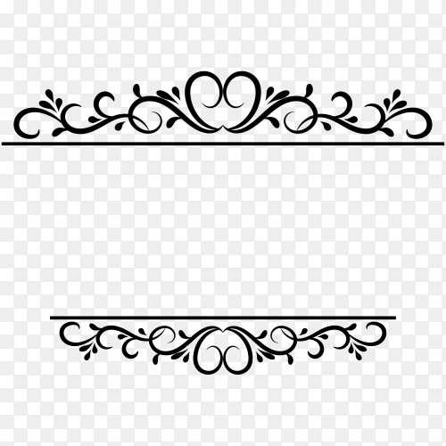 Decoration design elements with page decor and crown Clipart PNG