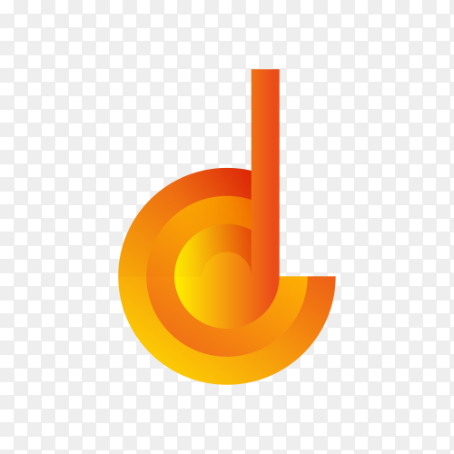 Design Concept of Colorful Stock Logo Icon and Shape of Letter D on transparent PNG