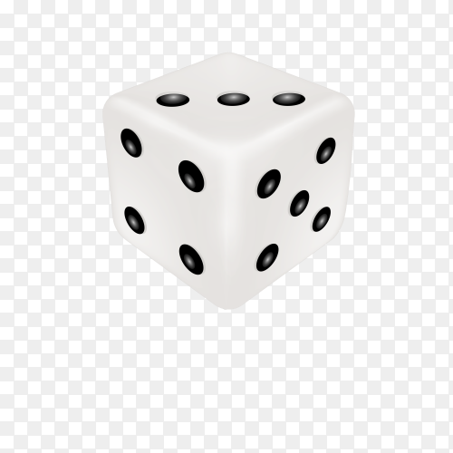 Dice for casino dices for board games on transparent background PNG