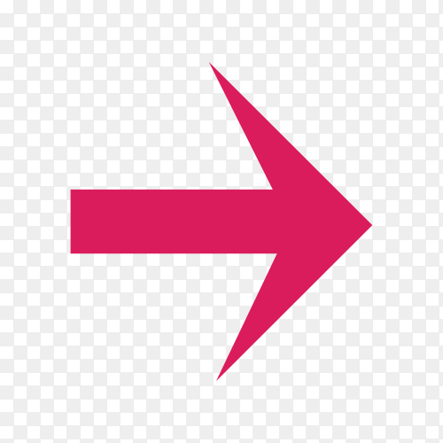 Directional arrow pointer in green color on transparent PNG
