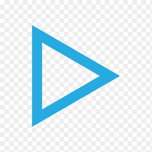 Directional arrow sign on transparent PNG