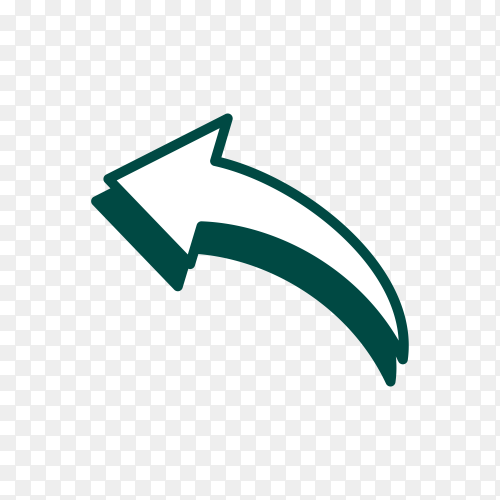 Doodle arrow sign icon isolated on transparent background PNG