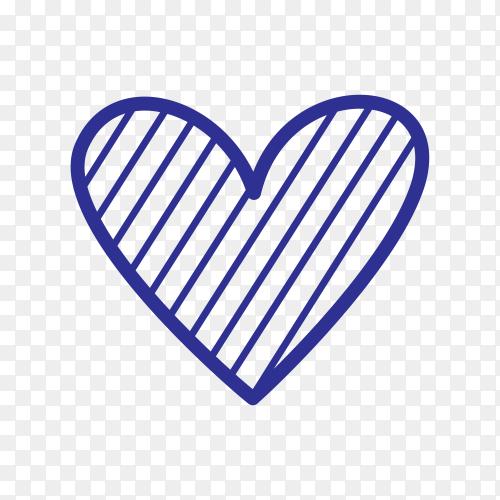 Doodle heart shaped arrow Clipart PNG