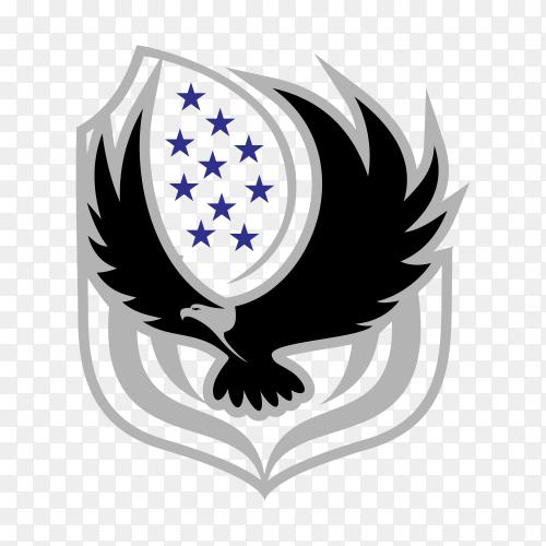 Eagle logo – illustration, emblem design on transparent background PNG