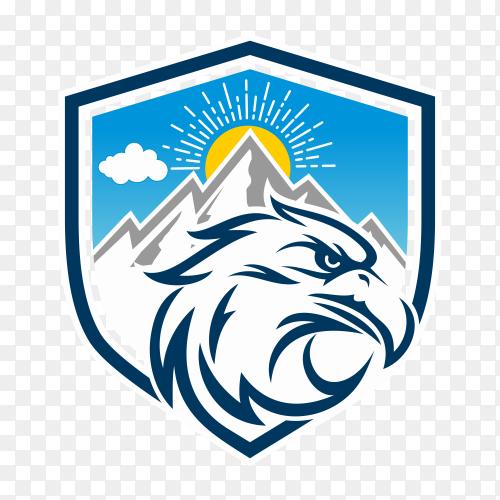 Eagle logo design template on transparent background PNG