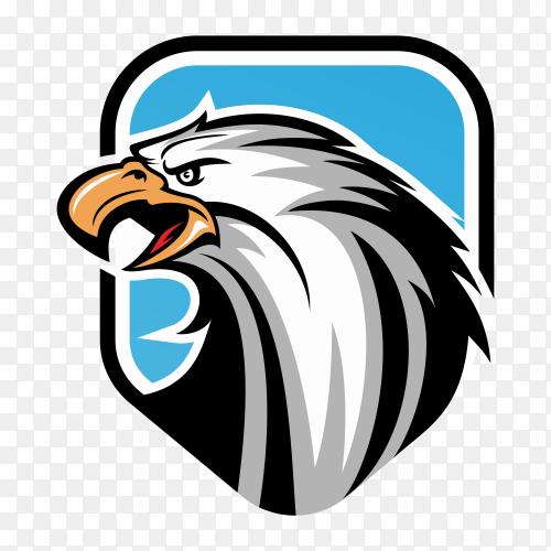 Eagle shield logo on transparent background PNG