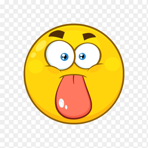 Emoji Face with Tongue on transparent background PNG