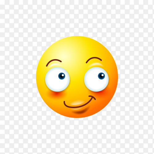 Emoji face isolated on transparent PNG