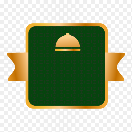 Empty label for promo seals on transparent PNG