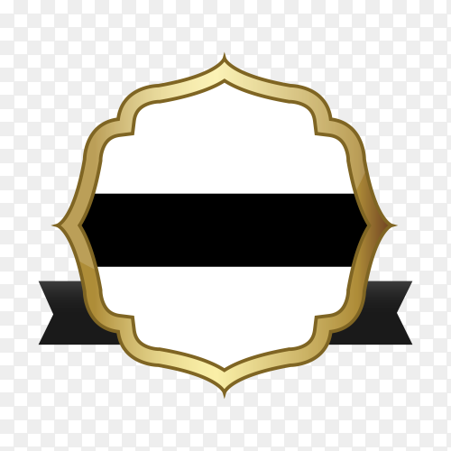 Empty label icon design on transparent PNG