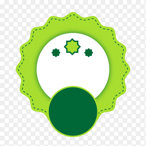 Empty label icon design on transparent background PNG