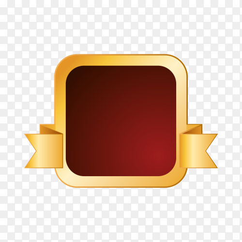 Empty label icon on transparent PNG