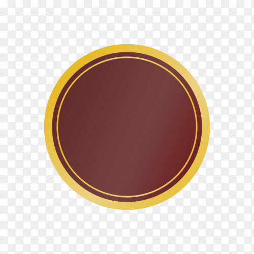 Empty label icon on transparent background PNG
