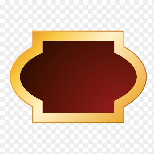 Empty label icon premium vector PNG