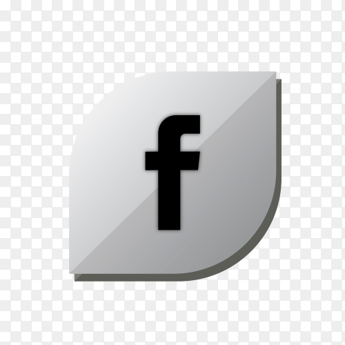 Facebook icon design isolated on transparent background PNG