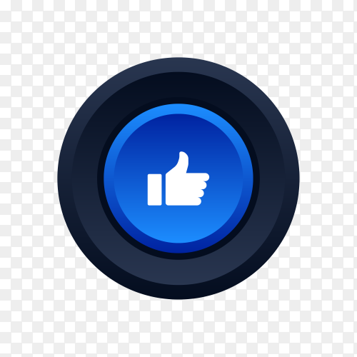 Facebook like favorite icon on transparent background PNG