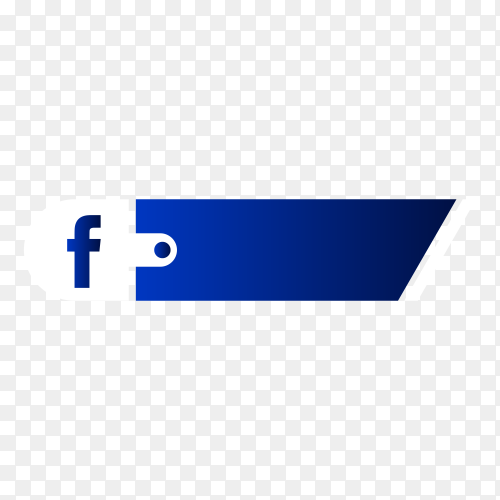 Facebook lower third icon isolated on transparent background PNG