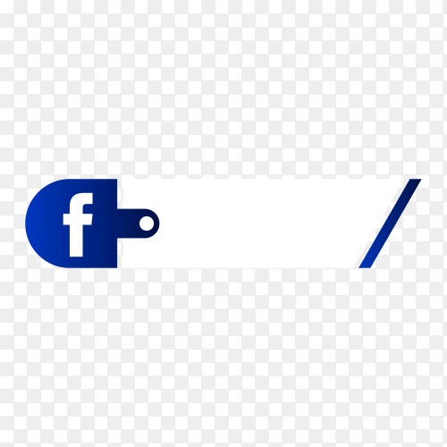 Facebook lower third icon on transparent background PNG