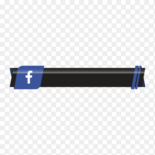 Facebook lower third icon template on transparent background PNG
