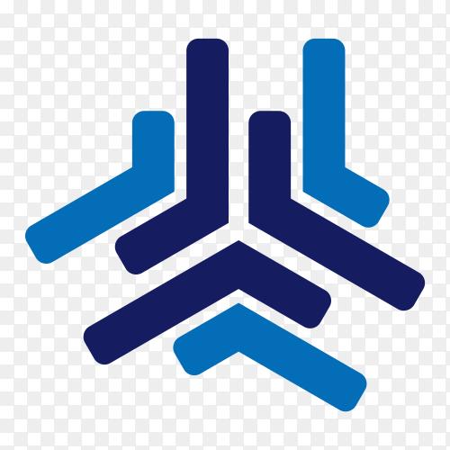 Flat design logo template premium vector PNG