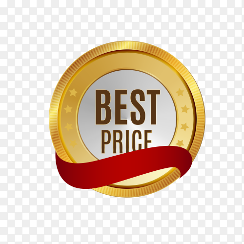 Gloss best price icon isolated on transparent background PNG