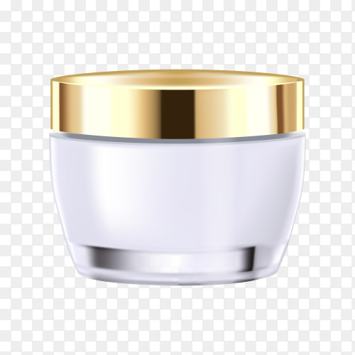 Gold cosmetic bottle premium vector PNG