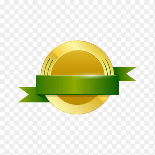 Gold empty frame label premium vector PNG