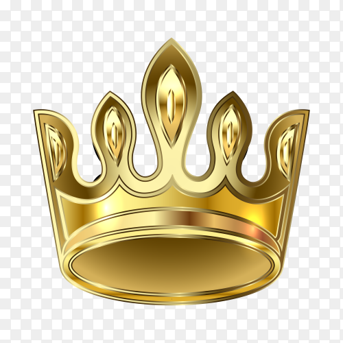 Golden crown illustration premium vector PNG