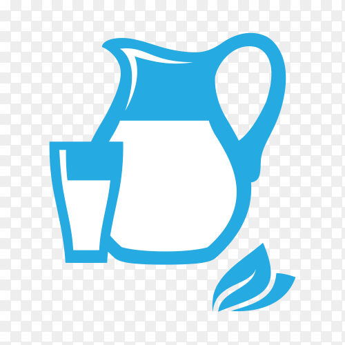 Hand drawn Glass bottle of milk and cup on transparent background PNG