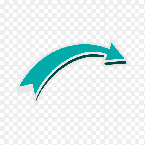 Hand drawn arrow. Doodle arrow isolated on transparent background PNG