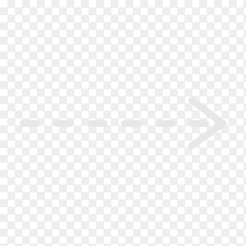 Hand drawn arrow. Doodle arrow on transparent PNG