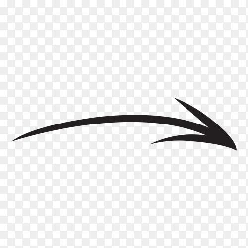 Hand drawn arrow icon . doodle arrow illustration premium vector PNG