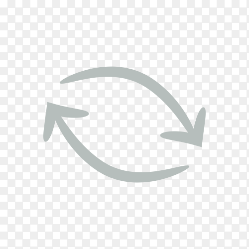 Hand drawn arrow icon template . doodle arrow symbol on transparent PNG
