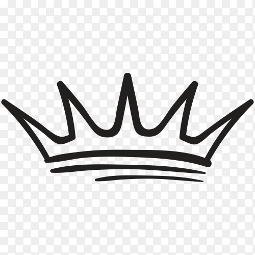 Hand drawn crown Clipart PNG