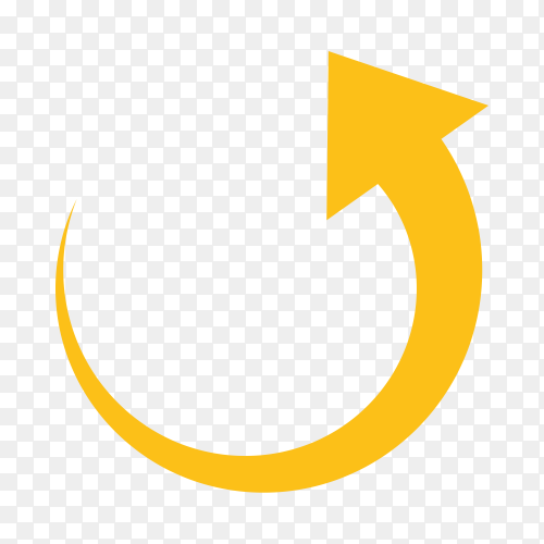 Hand drawn yellow arrow icon on transparent background PNG