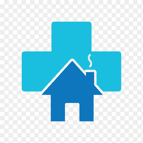 House real state logo on transparent background PNG
