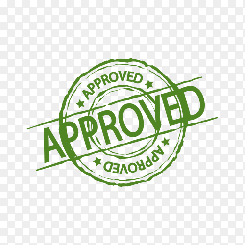 Illustration of Approved stamp on transparent background PNG