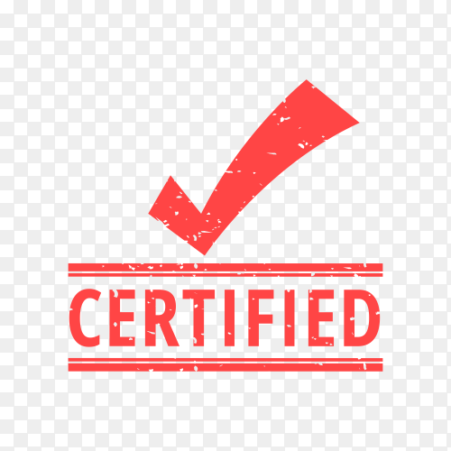 Illustration of Certified seal on transparent background PNG