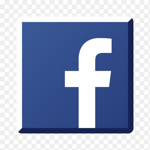 Illustration of Facebook icon design on transparent background PNG