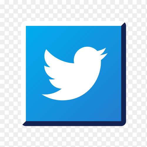 Illustration of Twitter icon design on transparent background PNG