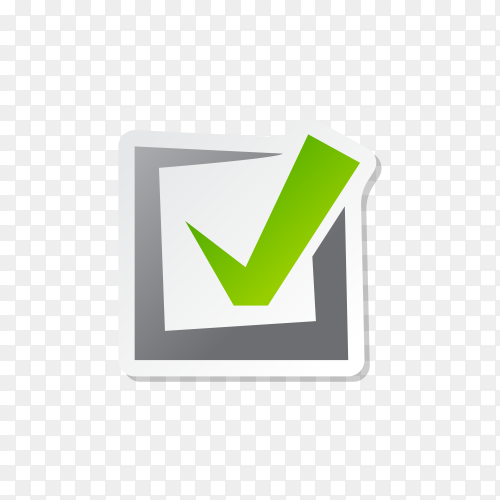 Illustration of check mark icon in square on transparent background PNG