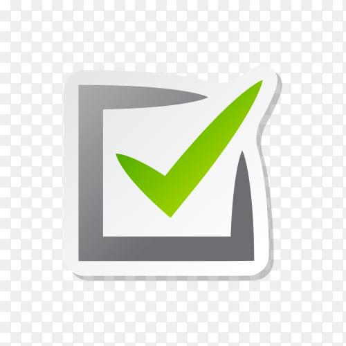 Illustration of check mark icon in square premium vector PNG