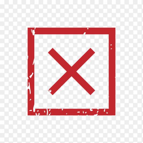 Illustration of cross mark on transparent background PNG