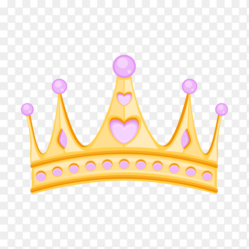 Illustration of crown on transparent PNG