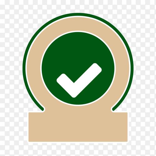 Illustration of empty label icon design on transparent background PNG