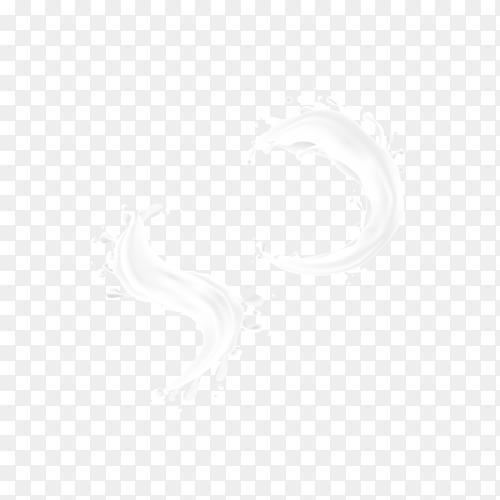 Illustration of milk splash on transparent background PNG