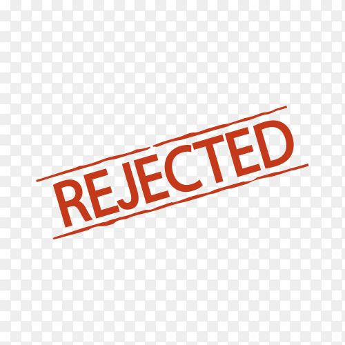 Illustration of rejected stamp on transparent background PNG