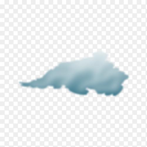 Illustration of storm cloud on transparent background PNG