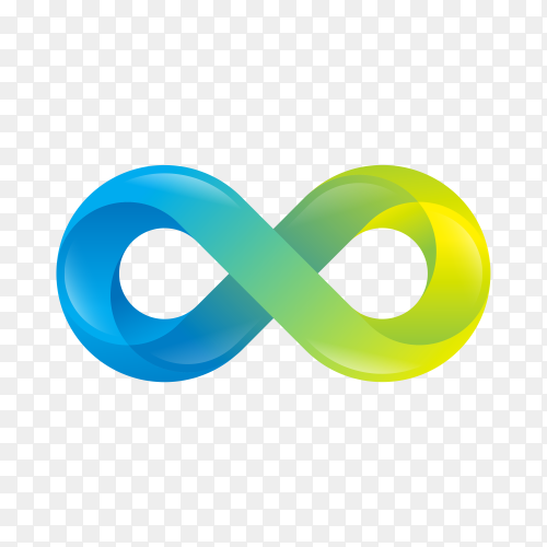 Infinity gradient style on transparent background PNG