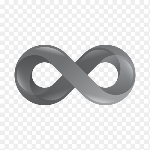 Infinity gradient style premium vector PNG